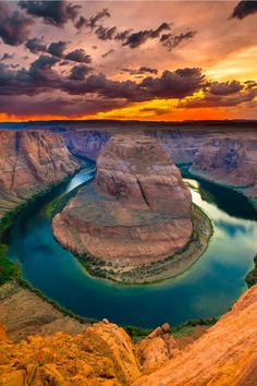 Horseshoe Bend is the name for a horseshoe-shaped meander of the Colorado River located near the town of Page, Arizona,   Martin Spilkin