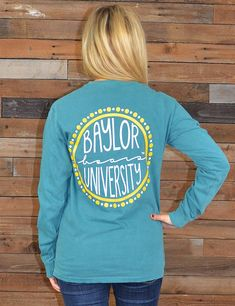 Is Baylor University YOUR University? Show your love for your school in this new BU Circle long sleeve pigment dyed t-shirt! Sic 'em Bears!
