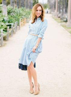 f8d1cfa8d6 25 Simple Ways To Wear A Shirt Dress - Outfits   Ideas