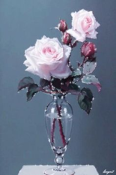 photo by tieuthu_nt Roses Gif, Flowers Gif, Pretty Flowers, Beautiful Flowers Wallpapers, Beautiful Gif, Beautiful Roses, Pink Roses, Pink Flowers, Good Morning Flowers