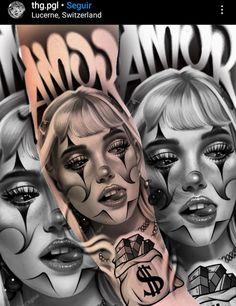 Pin Up Tattoos, Dope Tattoos, Leg Tattoos, Tattoos For Guys, Chicano Drawings, Tattoo Drawings, Tatoo Manga, Tattoo Studio, Chicano Tattoos Sleeve