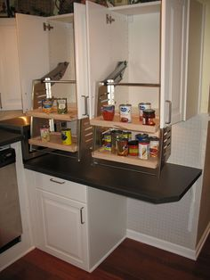 This wheelchair accessible kitchen cabinet is installed in the kitchen of the wheelchair accessible house for rent in Baltimore, MD.
