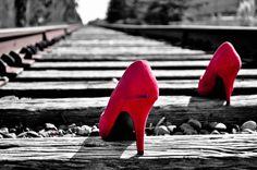 high heels on the go