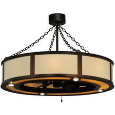 44.5 Inch Maplewood Beige Linen W/Up And Downlights Chandel-air