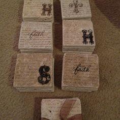 DIY Stamped Tile Coasters!