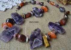 "Beads ""Autumn Sunset"" by SemipreciousSongs on Etsy"