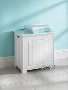 White Bathroom Laundry Storage living monks bench style laundry basket - white. £34.97 | h is for