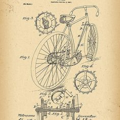 1899 Patent Bicycle