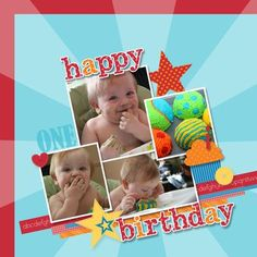 cute toddler birthday page