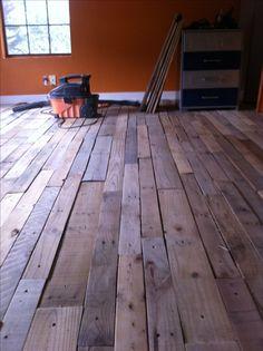 Pallet wood floor