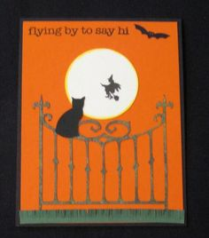 Black Cat on Fence by pink_lady - Cards and Paper Crafts at Splitcoaststampers