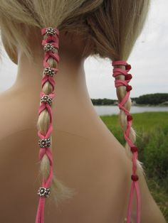 Beaded Leather Hair Ties Wraps Ponytail Holders от Vacationhouse