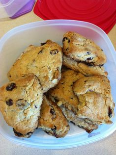 Dried Cherry Almond Scones