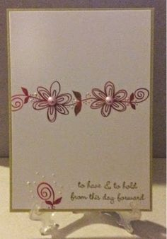 Lynn's Crafts and more...: Fall/Autumn Wedding CAS card