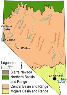 Map Of Ecoregions In Nevada Usa