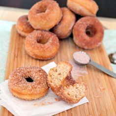 Mini Apple Cider Donuts (Baked)