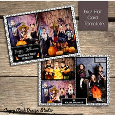 8 best halloween card photoshop templates images on pinterest card