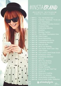 Start this on a Monday: 31 day InstaBrand Challenge via Julie Harris Design
