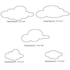 Cloud Wall Stencils for Creating a Cloud Wall Mural