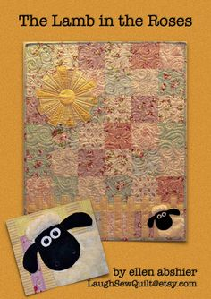 ee026f2230e0 Lamb in the Roses Baby Quilt Pattern by Ellen Abshier of Laugh Sew Quilt