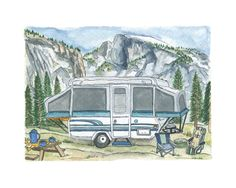 Custom Campsite Illustration