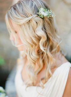 13 Utterly Gorgeous Half Up Half Down Hair Do's   weddingsonline