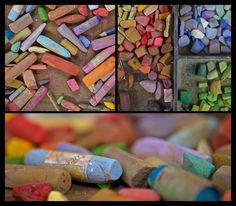 Rick Stevens' pastel table