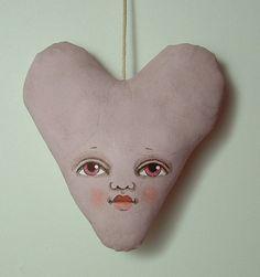 Heart Ornament---Contemporary Folk Art