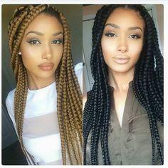 Jumbo box braids hairstyles - Page 3 of 4 - Inspired Beauty Box Braids Hairstyles, My Hairstyle, Black Girl Braids, Girls Braids, Blonde Box Braids, Long Braids, Black Girls Hairstyles, African Hairstyles, Beautiful Braids
