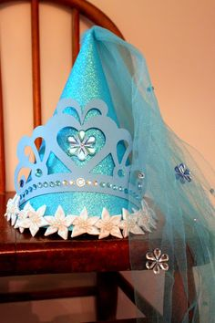 Cinderella Birthday Part Hat For Cinderella Themed Birthday Party by elizabethdoodah