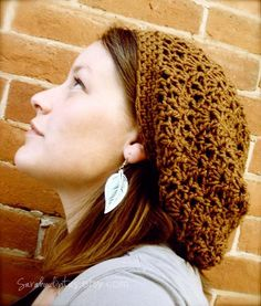 Sara you have to teach us how to do one of these!!!  Slouchy Boho Beanie