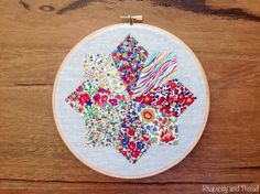 Christmas Star Embroidery Hoop