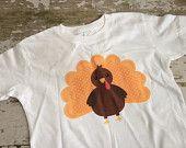 Orange Thanksgiving Turkey Shirt