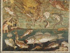 Roman mosaic, Pompeii, 1st century. Fish and other marine fauna. Naples, National Archaeological Museum. Photo crédit akg-images / Erich Lessing