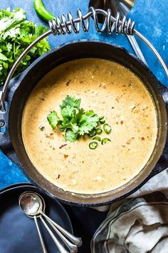 This Keto Queso Chicken Soup is a great recipe that has just 5 ingredients! We give options on how to make it in a slow cooker, Instant Pot, or Dutch oven. Chicken Queso Soup Recipe, Easy Chicken Pot Pie, Ground Chicken Recipes, Keto Chicken Soup, Low Carb Slow Cooker, Food Combining, Keto Soup, Vegan, The Fresh