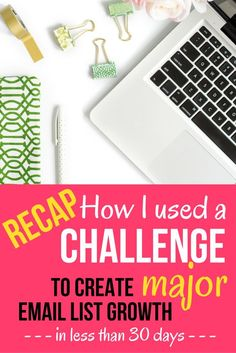 How to Use a Challenge to Create Major Email List Growth | I'm sharing step-by-step how I created the 14-day #PinProfitChallenge that exploded my email list, and helped to launch a paid course offering. Click through to read the full recap, plus grab you