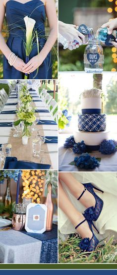real blue wedding colors inspiration ideas