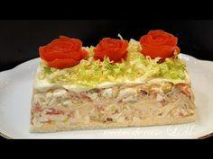 PASTEL FRÍO DE POLLO RECETA DE VERANO FÁCIL Y RÁPIDA - YouTube Sandwich Cake, Sandwiches, Pollo Chicken, Spanish Cuisine, Mexican Food Recipes, Ethnic Recipes, Canapes, Tapas, Side Dishes