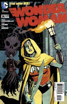The cover to Wonder Woman #14 (2013), art by Cliff Chiang