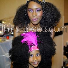 Natural Hair Mother and Daughter Picture
