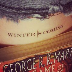 "1 x Game Of Thrones Arya Quote: ""Fear Cuts Deeper Than Swords"" Fake Tattoo 1 x House Stark Quote "" Winter Is Coming"" Fake Tattoo.  Tattoo papers aren't just for skin, they can be used to create dramatic decal effects on other surfaces such as plastics, soap, wax candles and sealed wood!  Tattoo will last between 2-7 days if applied carefully. Easy to apply , and also to remove! Instructions included.  Length: approx 7cm"