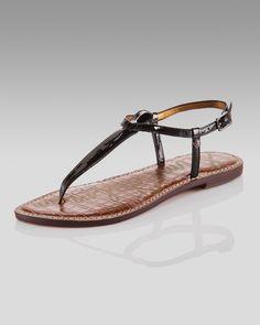 2606050b657145 Gigi Patent Thong Sandal by Sam Edelman at Neiman Marcus.