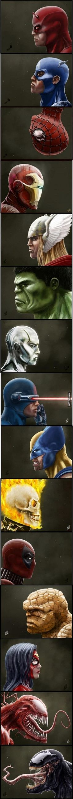 9GAG - Just some Superheroes and Villains