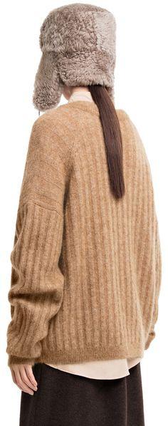 Dramatic mohair camel sweater #AcneStudios #PreFall2014