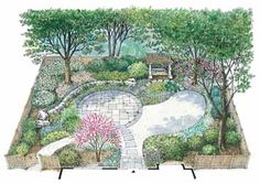 Native Shade Garden (HWBDO11148) | House Plan from BuilderHousePlans.com