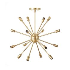 Vintage inspired classic round 16 light sputnik chandelier ready to hang in your…
