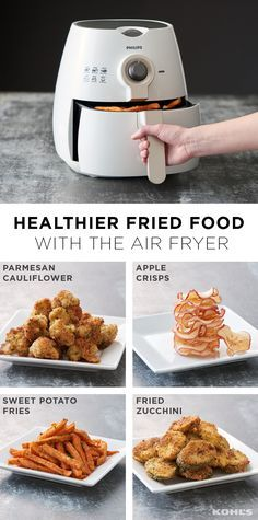 """""""I don't miss fried foods at all,"""" said no health-conscious eater ever. That's why we're so excited about this kitchen gadget for healthier frying. You get the crispy goodness you're craving without cheating. It uses a little air and a lot of science to create that delicious crunch that's so satisfying. Here are a few of our favorite dishes to air fry, but the possibilities are endless. Get healthy with Kohl's."""