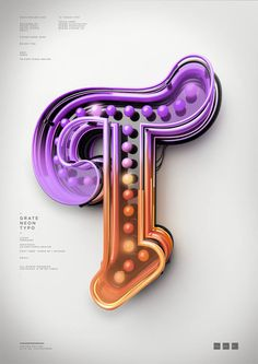 Peter Tarka's Amazing 3D Typography | I need to something like this in Cinema 4D! #typography #3D