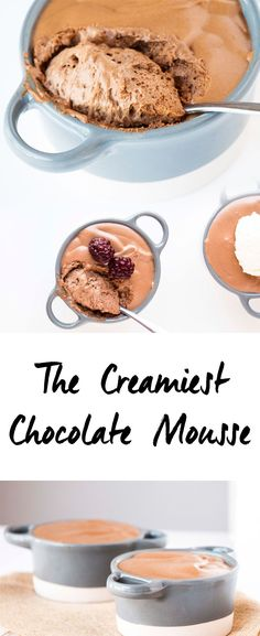 The Creamiest Chocolate Mousse. Perfect fluffy and scrumptiously delicious…