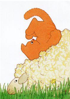 Dikkie Dik - tag - taeniura Ginger Cats, The Old Days, Lambs, Kidsroom, Beautiful Artwork, Toddler Outfits, Illustrators, Holland, Art Pieces